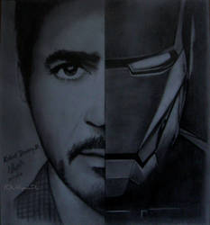 Robert Downey Jr as Iron Man by UthpalaDL