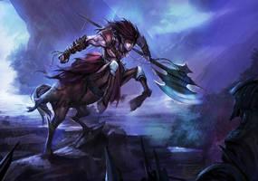 Centaur Warrior by chaosringen
