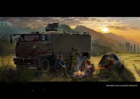 Zombie Apocalypse #1 by fabiovenetz