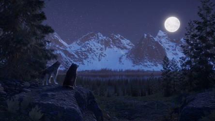 Alaska Range by JohnWulffe