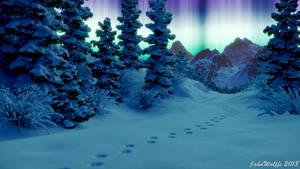Wolf trail by JohnWulffe