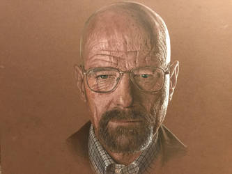 Walter White from Breaking Bad prismacolor drawing by franeres