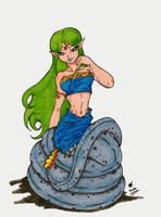 Naga Princess Salgani: Color Solo by BrandonHill