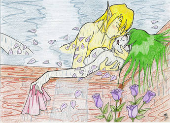 Flashback: Elven Roses - A Romantic Bath by BrandonHill