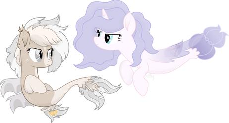 Two sea ponies by Cirillaq