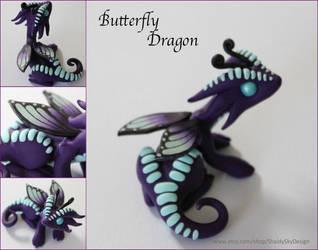 Polymer Clay Butterfly Dragon by ShaidySkyDesign