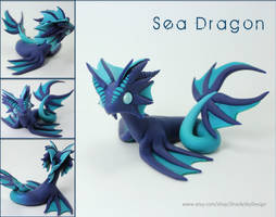 Polymer Clay Sea Water Dragon WIP by ShaidySkyDesign