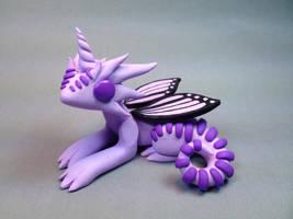 Polymer Clay Unicorn Dragon Lavander by ShaidySkyDesign