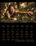Tomb Raider Reborn calendar for July by Franc1ne