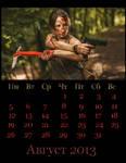 Tomb Raider Reborn calendar for August by Franc1ne