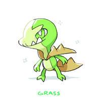 Tumbleweed Dragon Pokemon by harikenn