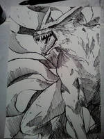 Naruto demon fox by DRAWMOD