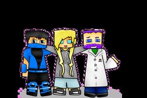 CrystalWolfXx, Blooz, and Sam by cloudystarr