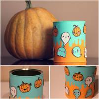 Halloween candy jar by purpleniya