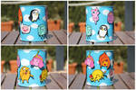 Adventure Time recycled jar by purpleniya