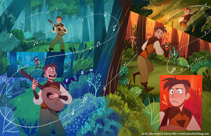 Fantastic Tales Of Nothing - Double Spread by Aledles