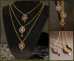 Steampunk Lone Star Gear Wood Necklace by CrystalKittyCat