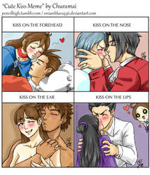 Cute Kiss Meme ft my AceAttorney ships by pencilhigh