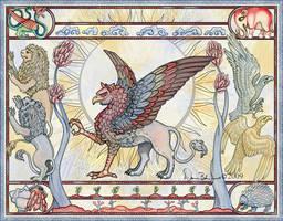 Medieval Griffon by FamiliarOddlings