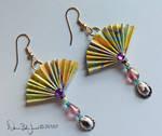 Fan and shell earrings by FamiliarOddlings