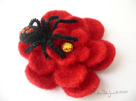 Spider Flower Hairclip by FamiliarOddlings
