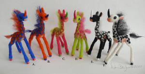 Mini Kirins of the Rainbow by FamiliarOddlings