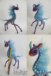 Purple Giraffe Kirin by FamiliarOddlings