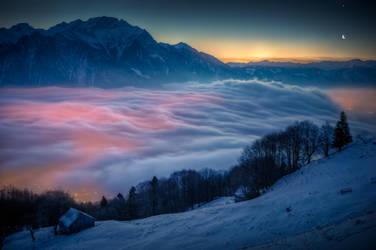 Moon and Venus in Switzerland by dmkdmkdmk
