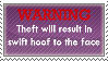 Anti Equine Art Theft STAMP by Crickatoo