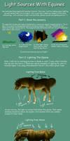 Lighting an Equine by Crickatoo