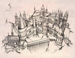 Hogwarts castle by Andette