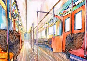 Orange coach by Andette