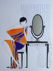 Art Deco fashion drawing vanity by Ned-The-Hat