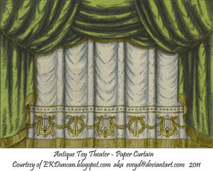 Green Toy Theater Curtain 1 by EveyD