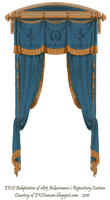 1815 French Curtain - Blue by EveyD