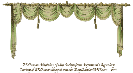 1819 Swag Curtain - Green by EveyD