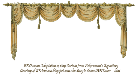 1819 Swag Curtain - Peach by EveyD