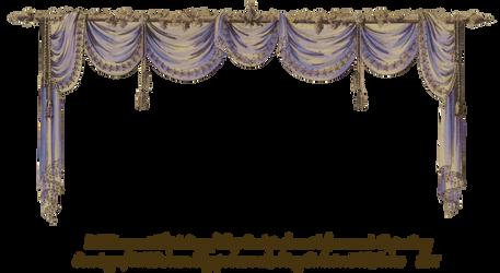 1819 Swag Curtain - Blue Purple by EveyD