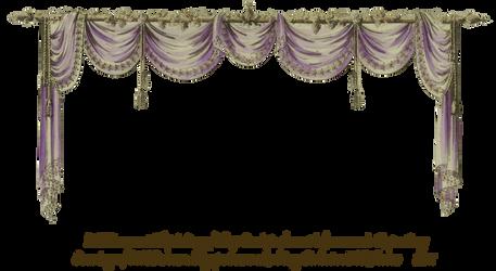 1819 Swag Curtain - Purple by EveyD