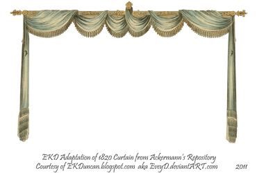 1820 Regency Curtain Room - EKD 1 curtain only by EveyD