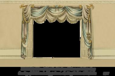 1820 Regency Curtain Room - EKD 1 by EveyD