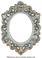 Vintage Silver and Gold Frame - Oval by EveyD