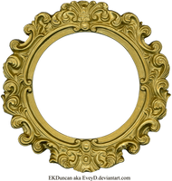 Vintage Gold Frame - Round by EveyD