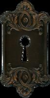 Retro Vintage Door Key Plate for Lock by EveyD