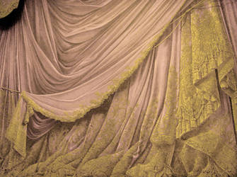 Backdrop Vintage Theater Stage Curtain - Cream by EveyD
