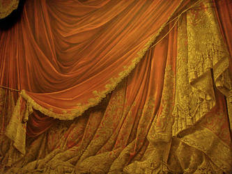 Backdrop Vintage Theater Stage Curtain - Sunset by EveyD