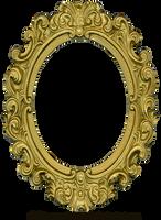 Ornate Gold Frame - Oval 1 by EveyD