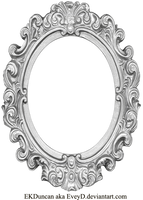 Ornate Silver Frame - Long Oval by EveyD