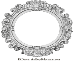 Ornate Silver Frame - Wide Oval by EveyD