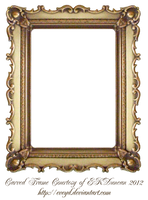 Carved Gold Frame by EKDuncan by EveyD
